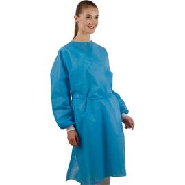 Dochem Защитные халаты медицинские, одноразовые, 40 г/м2, синие, размер L, 10 шт.