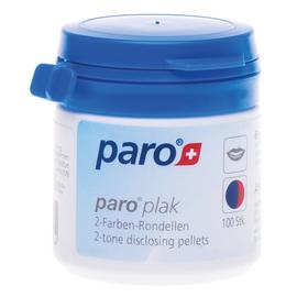 paro® PLAK, 2-tone disclosing pellets Двухцветные подушечки для индикации зубного налета, 100 шт.