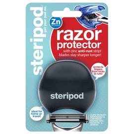 Steripod Защитный чехол для бритвы с цинковой антикоррозийной полоской, черный