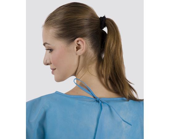 Dochem Защитные халаты медицинские, одноразовые, 40 г/м2, синие, размер S, 10 шт., изображение 2