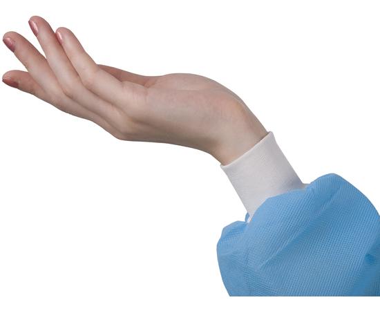 Dochem Защитные халаты медицинские, одноразовые, 40 г/м2, синие, размер S, 10 шт., изображение 3