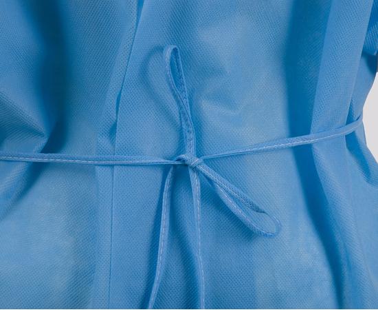 Dochem Защитные халаты медицинские, одноразовые, 40 г/м2, синие, размер S, 10 шт., изображение 4