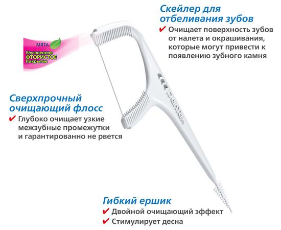 DenTek Комплексное очищение Флосс-зубочистки, 90 шт., изображение 3