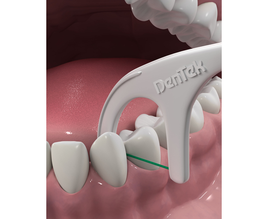 DenTek Тройное очищение Флосс-зубочистки, 75 шт., изображение 5