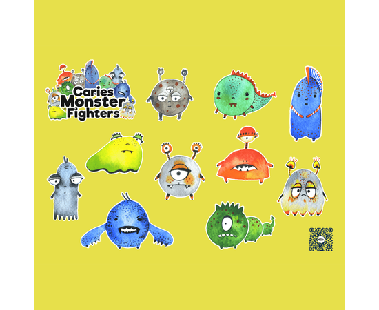 Caries Monsters Fighters Стикерпак