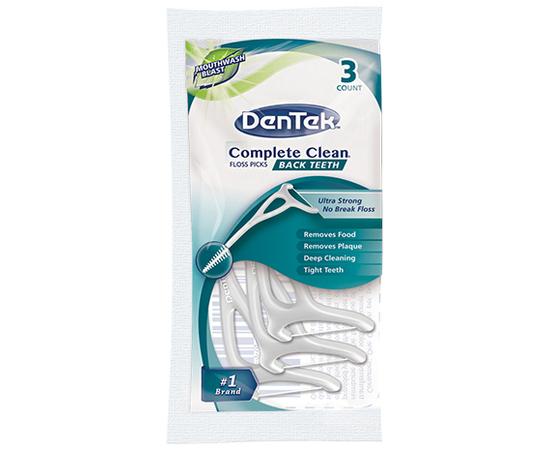 DenTek Комплексное очищение Задние Зубы Флосc-зубочистки, 3 шт.