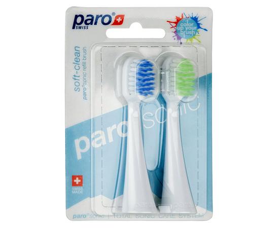 paro®sonic soft-clean Сменные щетки для нежного и тщательного очищения, 2 шт.