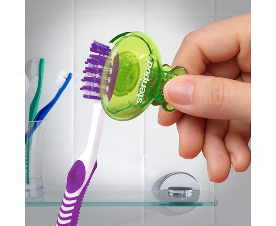 Steripod Антибактериальный чехол для зубной щетки, кристально чистый синий (в упаковке 1 шт.) ПОДАРОК