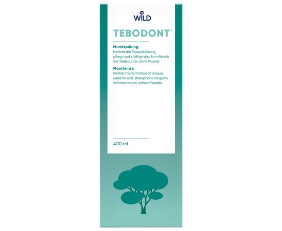 TEBODONT Ополаскиватель для полости рта с маслом чайного дерева (Melaleuca Alternifolia), без фторида, 400 мл, изображение 2