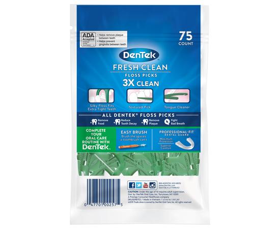 DenTek Освежающее очищение Флосс-зубочистки, 75 шт., изображение 2