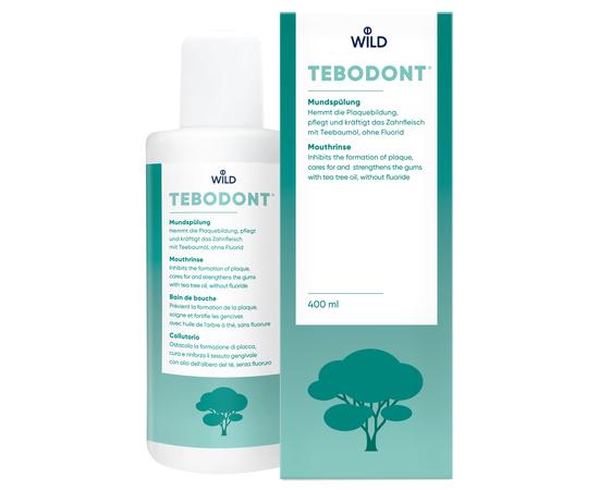 TEBODONT Ополаскиватель для полости рта с маслом чайного дерева (Melaleuca Alternifolia), без фторида, 400 мл, изображение 3