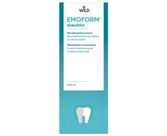 EMOFORM Для чувствительных зубов Ополаскиватель для полости рта с минеральными солями и фторидом, концентрат, 400 мл, изображение 2