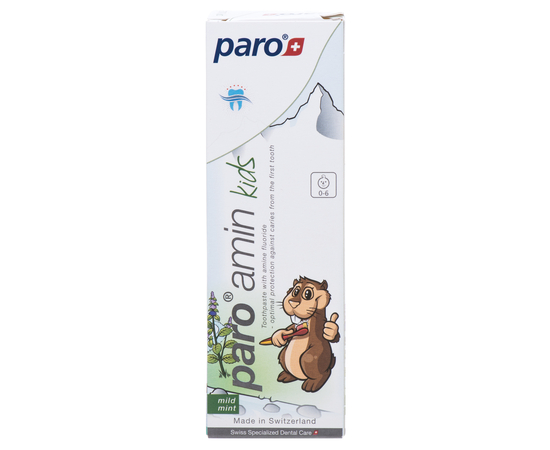 paro® amin kids Детская зубная паста на основе аминофторида 500 ppm, 75 мл, изображение 2