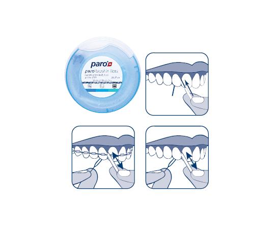 paro® BRUSH'n FLOSS Зубная нить и щетка, суперфлос, 20 x 15 см