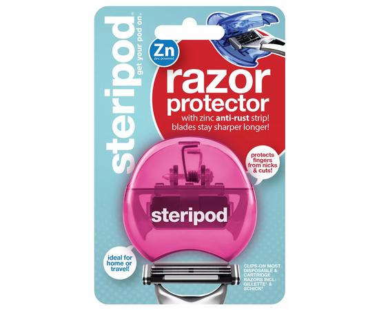 Steripod Защитный чехол для бритвы с цинковой антикоррозийной полоской, розовый